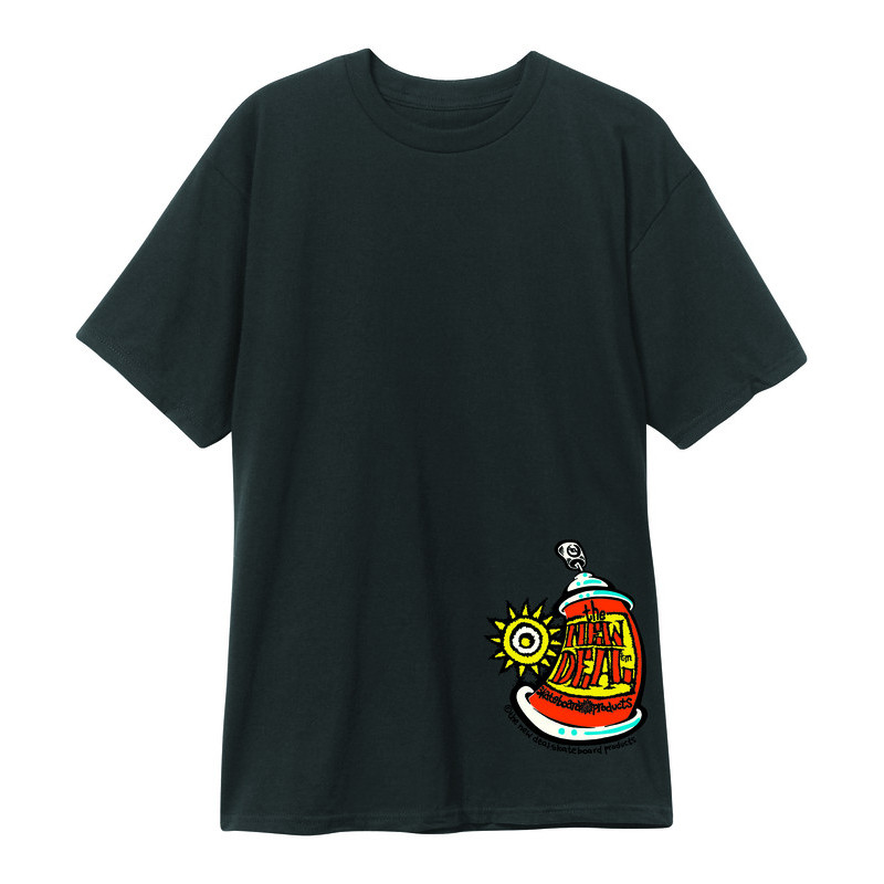 New Deal Spray Can S/S Tee Black