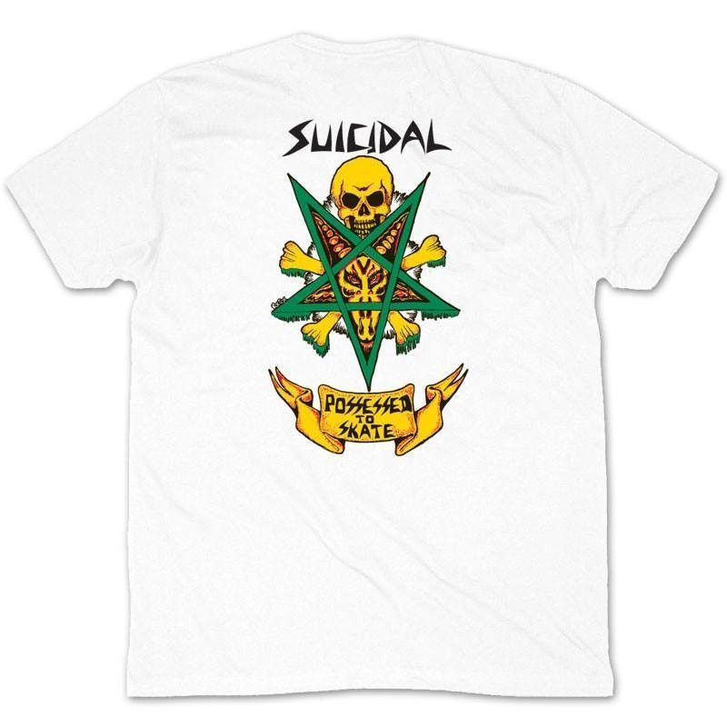 DOGTOWN SUICIDAL SKATES POSSESSED TO SKATE WHITE T-SHIRT