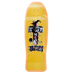 "DOGTOWN STONEFISH REISSUE YELLOW STAIN / ORANGE FADE - 30.2"" X 10.125"" - OLD SCHOOL SKATEBOARD DECK"
