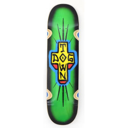 "Dogtown Spray Cross 'Loose Trucks' Deck - 8.5"" x 32.5"" - Green / Black Fade"