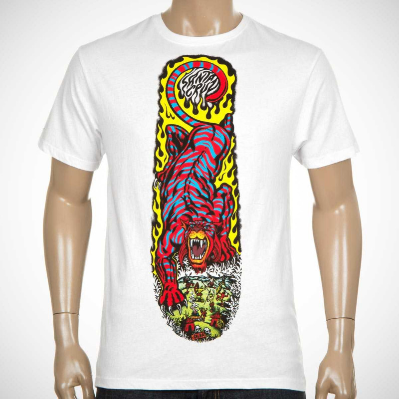 Santa Cruz T-Shirt Deck Series Salba Tiger