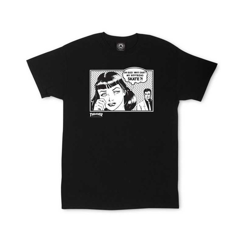 T-Shirt Thrasher Boyfriend Black