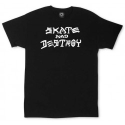 T-Shirt Thrasher Skate And Destroy Black