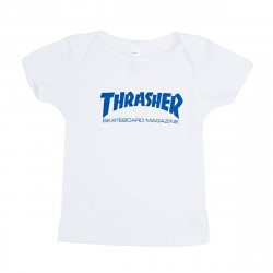 Infant Thrasher Skate Mag T-Shirt White (For Babies)
