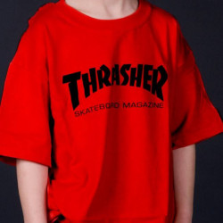 Youth Thrasher Skate Mag T-Shirt Red