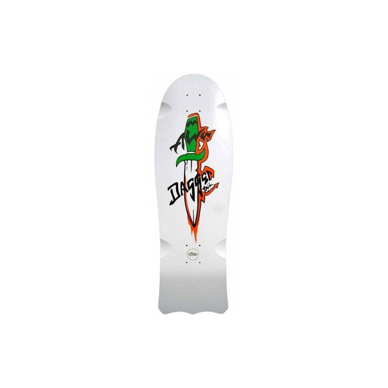 1985 DAGGERTAIL RE-ISSUE WHITE Skateboard Deck