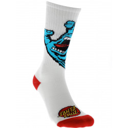 Santa Cruz Screaming Socks White
