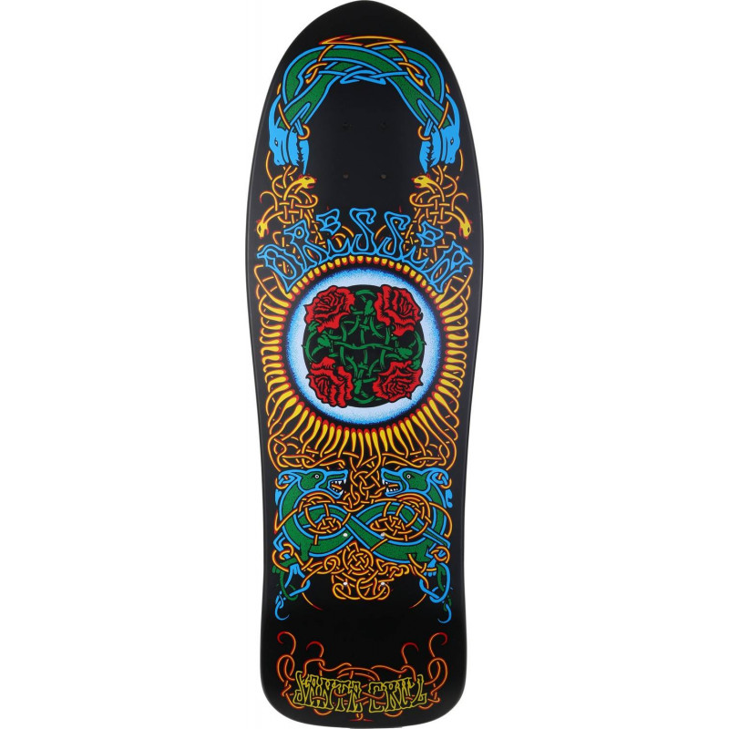 Santa Cruz Skateboards Dressen Roses Natural Reissue Black Deck