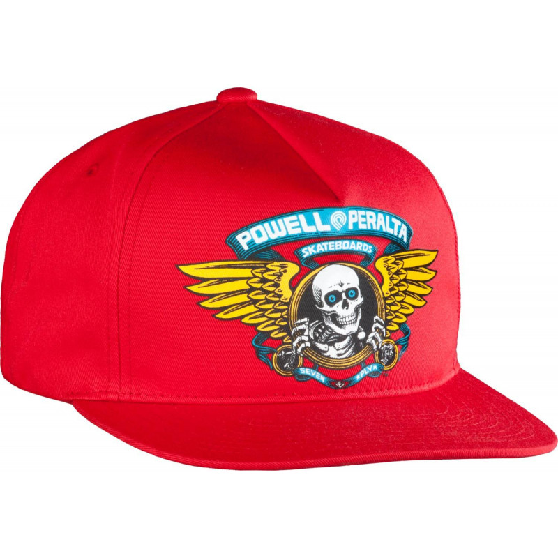 Powell Peralta Winged Ripper Snap Back Cap Red