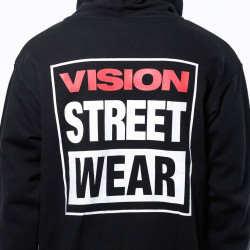 VISION STREET WEAR LOGO POP OVER MENS HOOD - NOIR