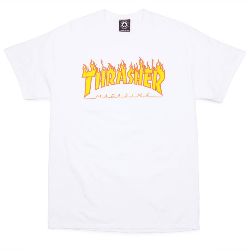 T-Shirt Thrasher Flame White