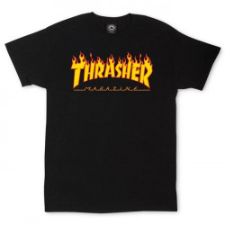 T-Shirt Thrasher Flame Noir