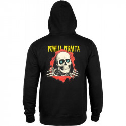 Powell Peralta Ripper Pullover Hooded Sweatshirt Black